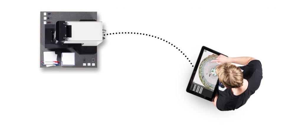 Telemicroscopy Illustration digital microscope_